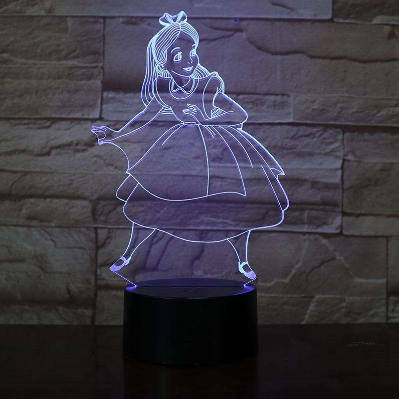 Hamupipőke  3D led lámpa