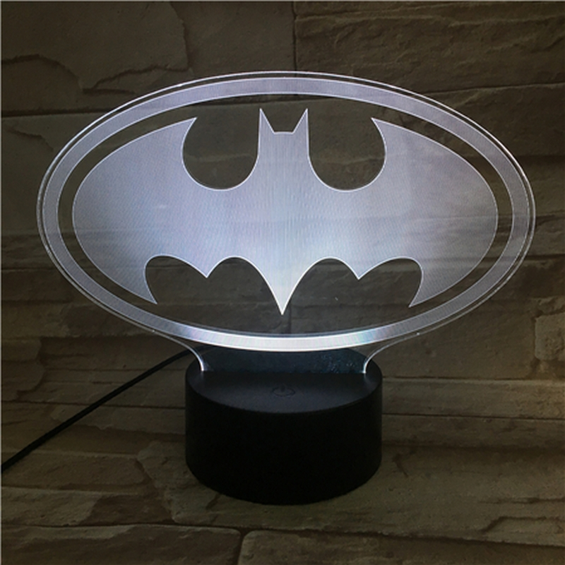 Denevér 3D led lámpa