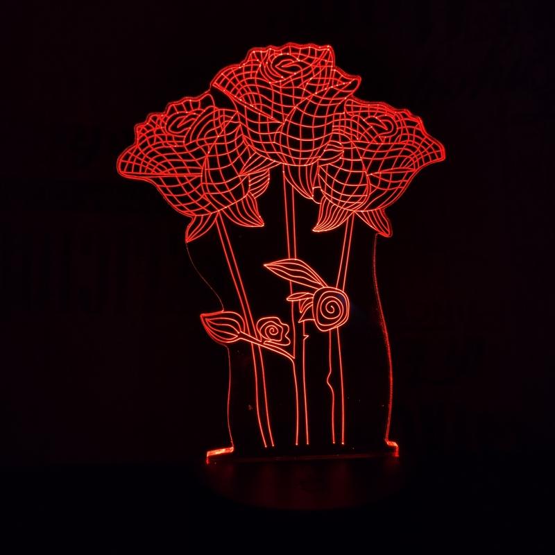 Rózsa csokor 3D led lámpa