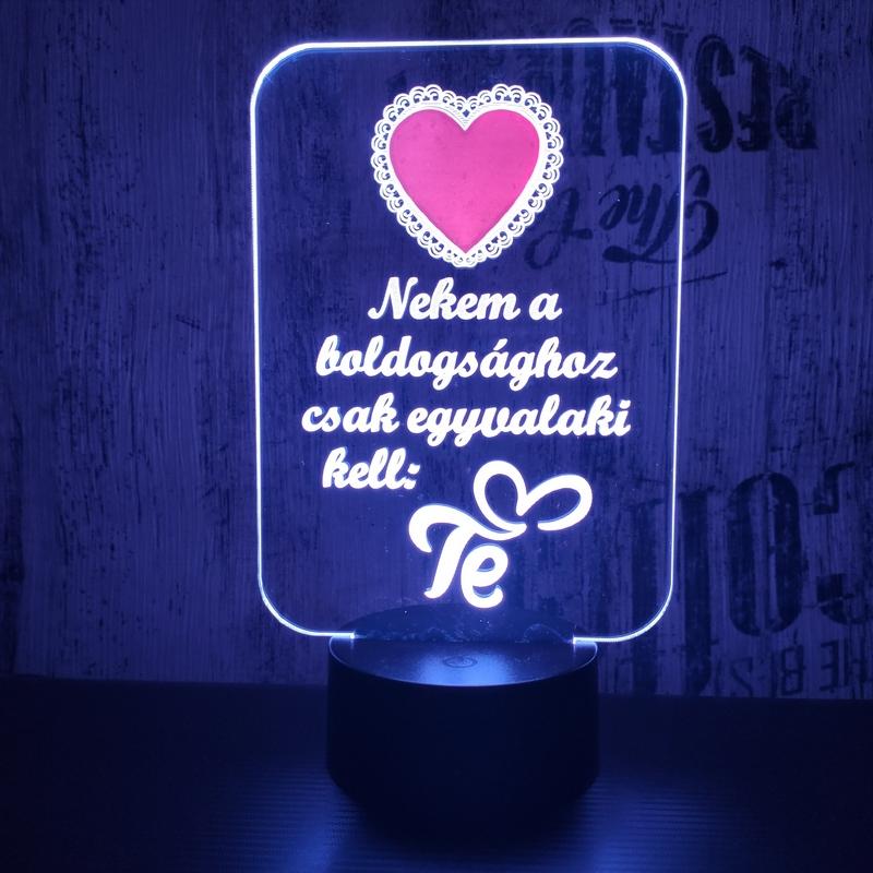 Piros szív 3D led lámpa